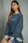 KONUS K-49441 KS Sweatshirt W/ Acid Wash & zipper Blue