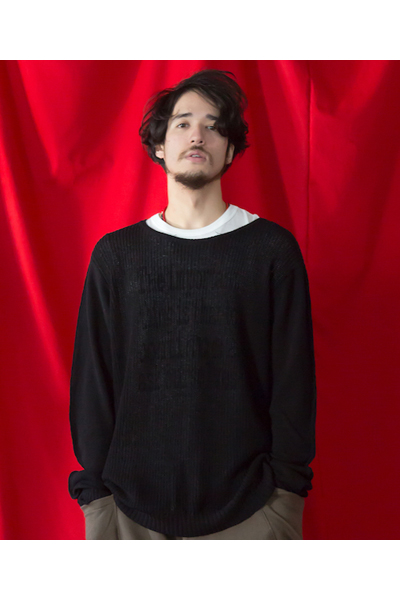 VIRGO HARD GAUGE KNIT ニット BLACK
