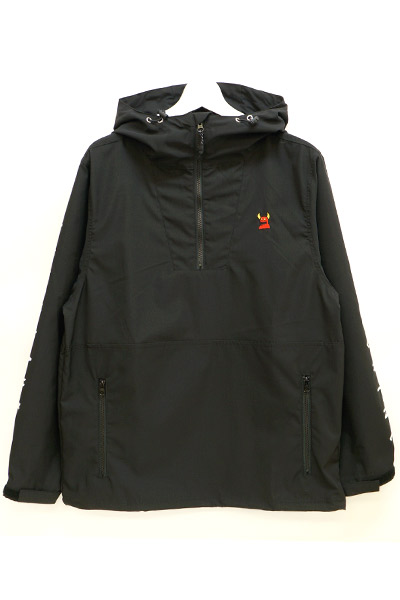 TOY MACHINE TMP18JK31 ANORAK JACKET BLACK