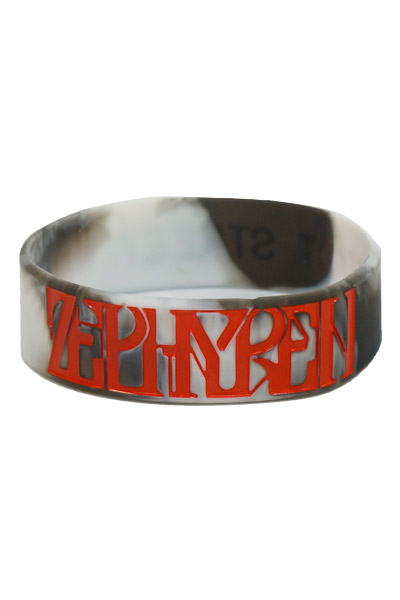 Zephyren(ゼファレン) RUBBER BRACELET -VISIONARY- BLACKxGRAYxRED