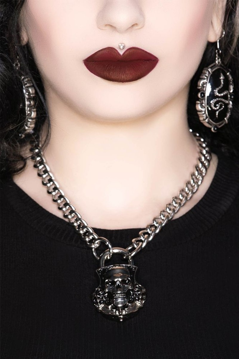 KILL STAR CLOTHING Lock Me Up Necklace