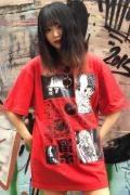 SAMURAI CORE 地震ー雷ー火事ーオヤジ TEE RED