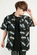 【予約商品】HEDWiNG Owl Totalhandle Shirt Black