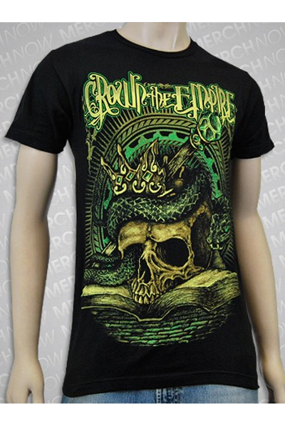CROWN THE EMPIRE Skull Book Green Black