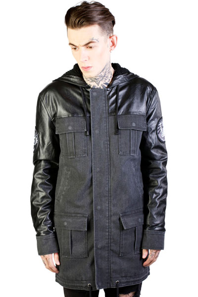 DISTURBIA CLOTHING WE OWN THE NIGHT PARKA