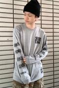 RIP DESIGN WORXX RIPDW LOGO LONG T-SHIRT(グレー)