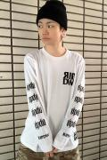 RIP DESIGN WORXX RIPDW LOGO LONG T-SHIRT(ホワイト)