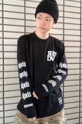 RIP DESIGN WORXX RIPDW LOGO LONG T-SHIRT(ブラック)