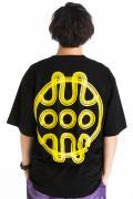 HEDWiNG Hebraea Logo Big shilhouette T-shirt Black