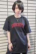 Subciety (サブサエティ) EMBROIDERY TEE BLACK/RED