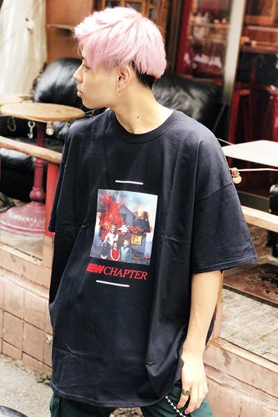 LILWHITE(dot) (リルホワイトドット) -NEW CHAPTER- TEE BLK
