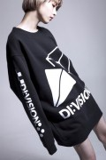 "DI:VISION SS ""CANDY"" SWEAT BLK"