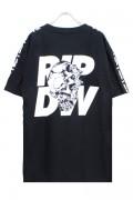 RIP DESIGN WORXX ショルダーラインTシャツ BLACK