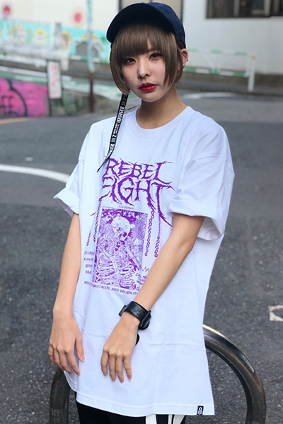REBEL8 Gutteral Tee White