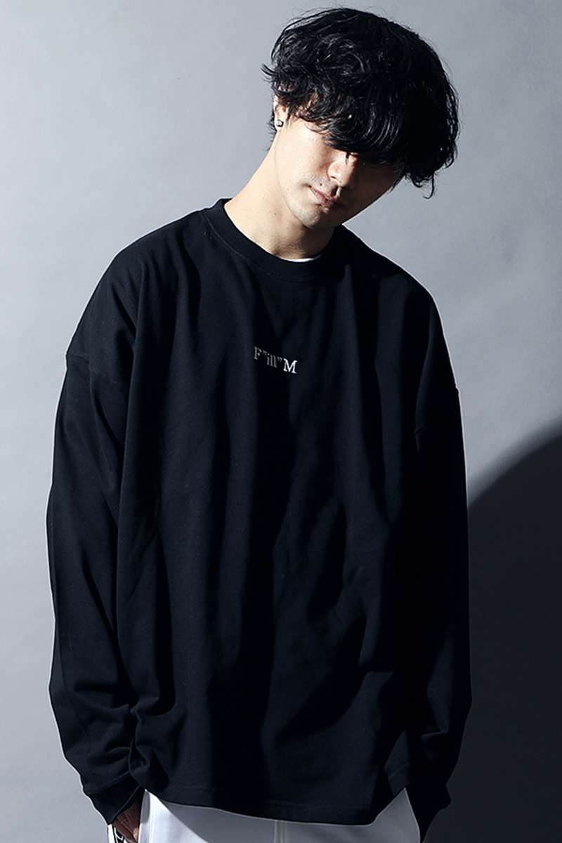 SILLENT FROM ME FILLM -Loose Long Sleeve- BLACK