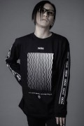 ZERO EVOKE DISTORTION L/S Tee (BLACK)