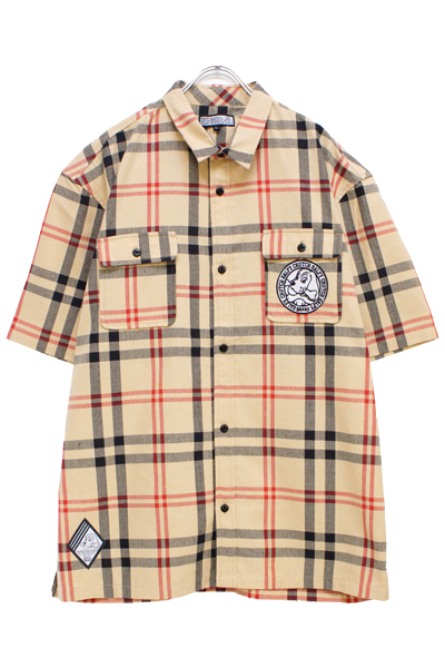 GALFY 182017 Check shirt BEIGE