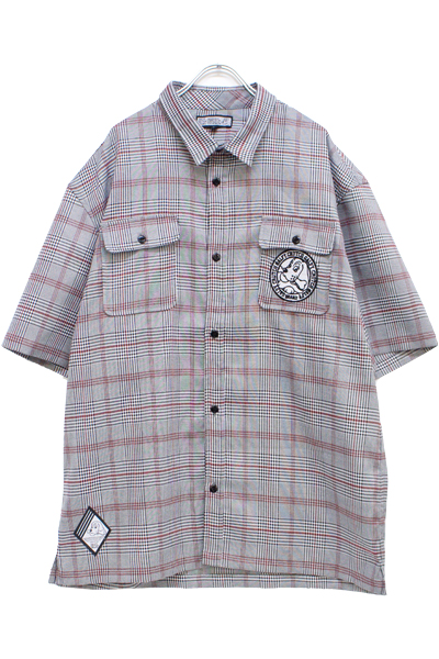 GALFY 182017 Check shirt GRAY