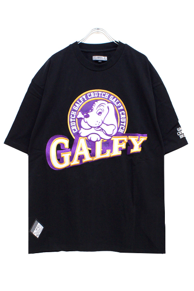 GALFY 182019 90's Sports galfy Tee Black x Purple