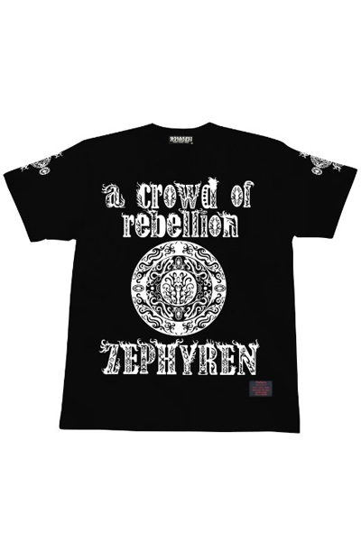 Zephyren a crowd of rebellion x A.V.E.S.T S/S TEE BLACK