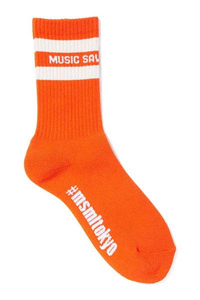 MUSIC SAVED MY LIFE (MSML) M1K1T-AC01 LINE SOX ORANGE