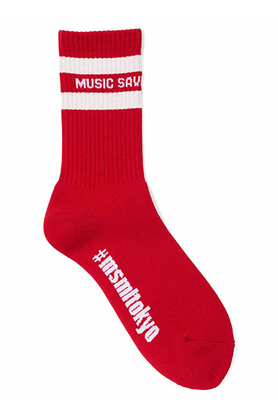 MUSIC SAVED MY LIFE (MSML) M1K1T-AC01 LINE SOX RED