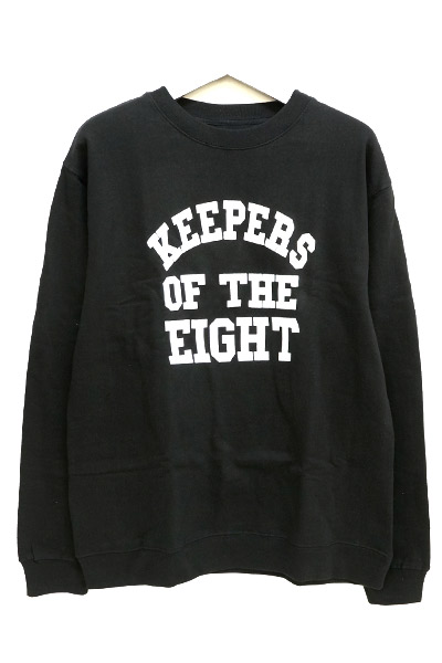 REBEL8 111030027 KEEPERS OF THE EIGHT CREWNECK BLK