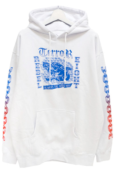 REBEL8 111010037 HARD WAY PULLOVER HOODY WHT