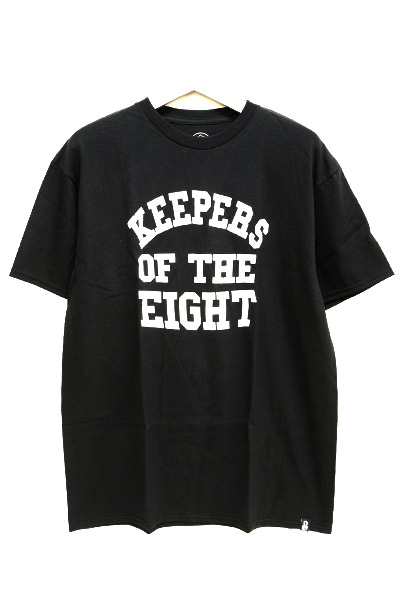 REBEL8 110010268  KEEPERS OF THE EIGHT TEE BLK