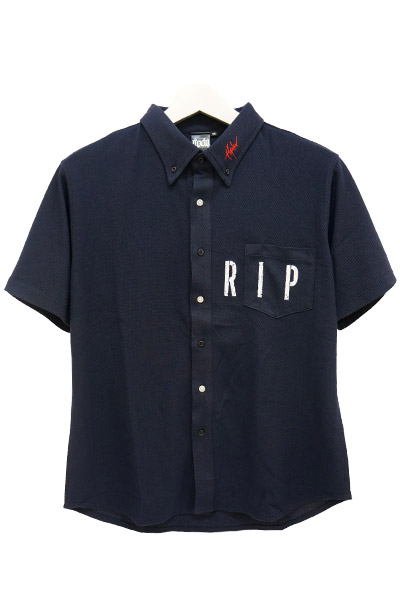 RIP DESIGN WORXX STENCIL POCKET SHIRT NAVY