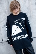 """DI:VISION """"CANDY"""" L/S TEE BLK"""