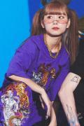 GALFY 鬼YABAI Tee 江戸紫