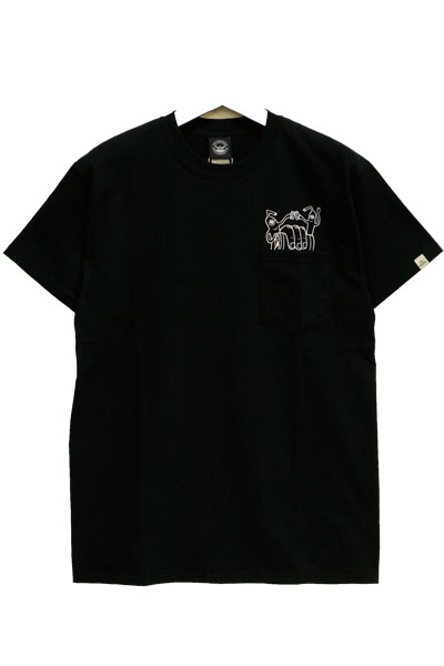 TOY MACHINE TMS18ST14 POCKET TEE BLACK