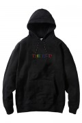 "LILWHITE(dot) LW-19SU-S01 ""THE END"" EMBROIDERY HOODIE BLACK"