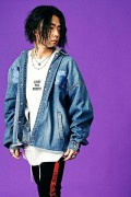MUSIC SAVED MY LIFE (MSML) M1K1K-JK02 BALLOON DENIM JACKET(加工) L.BLUE