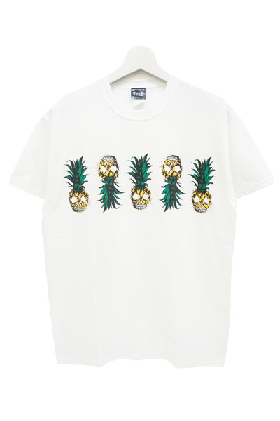 GoneR (ゴナー) Pineapple Skull T-Shirts White