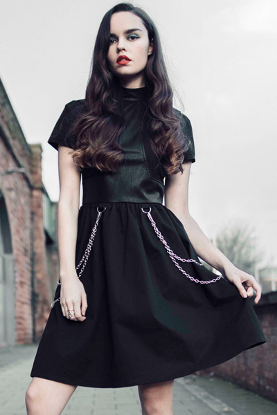 DISTURBIA CLOTHING Chains Dress