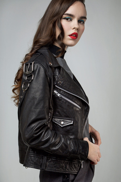 DISTURBIA CLOTHING Deadbeat Leather Jacket