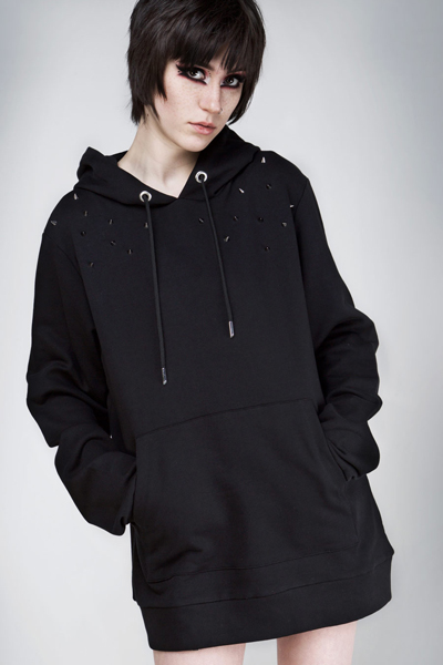 DISTURBIA CLOTHING Stud Hoody