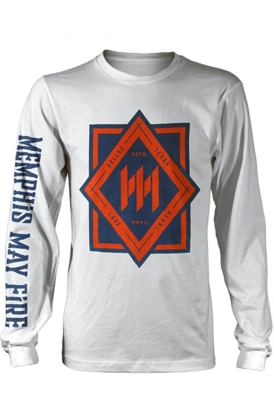 MEMPHIS MAY FIRE Love Truth Long Sleeve White - T-Shirt