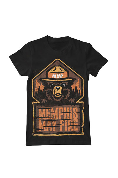 MEMPHIS MAY FIRE Smokey Black - T-Shirt