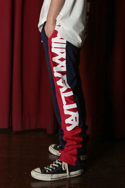 ANIMALIA(アニマリア) AN19S-PT03 JOGGING PANTS MISFIT NAVY×RED