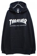 THRASHER TH8501 MAG LOGO HOODIE BLK/WHT