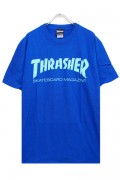 THRASHER TH8101 Mag LogoTee ROYAL/TURQUOISE