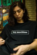 TOY MACHINE TMS18ST8 Toy Machine Logo ss BLACK-A