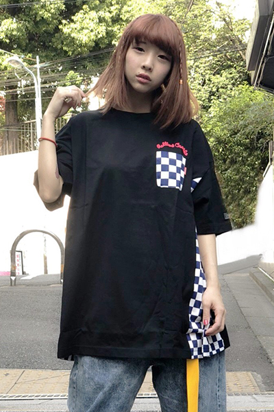 ROLLING CRADLE RC CHECKER BIG Tee BLACK