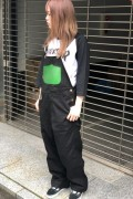 ROLLING CRADLE CANVAS NEON OVERALL / Black