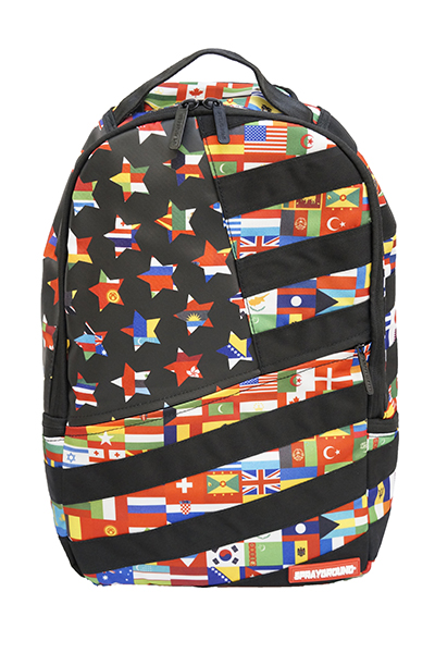 SPRAY GROUND CUT&SEW INTERNATIONAL FLAGS BACKPACK