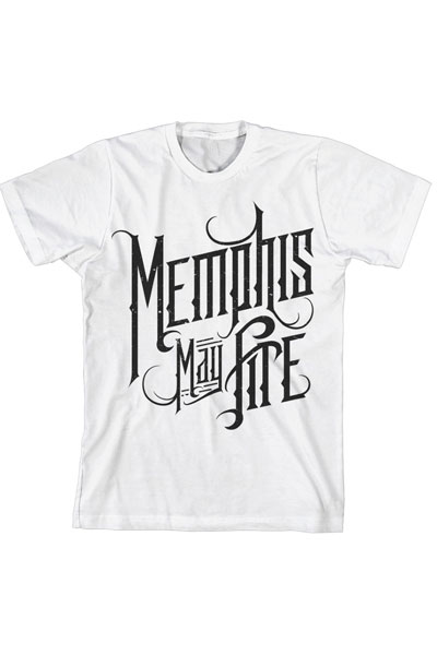 MEMPHIS MAY FIRE Logo White - T-Shirt