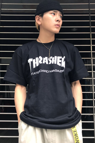THRASHER TH8101 Mag LogoTee BK/WH